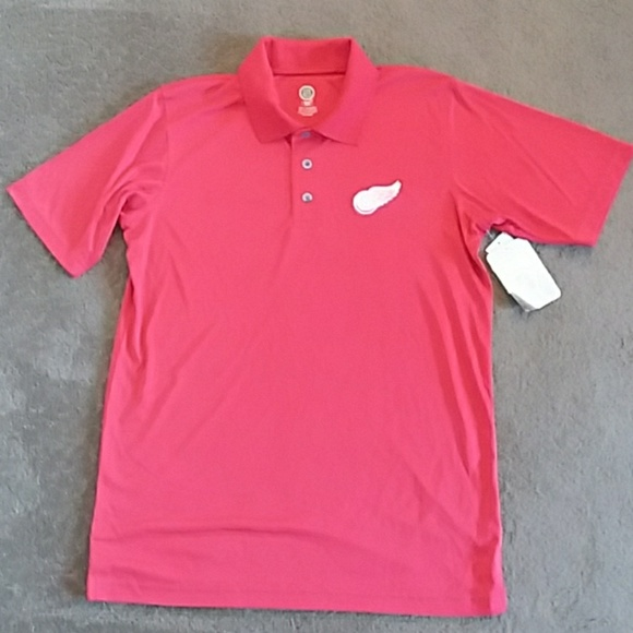 1d6e9f08844 Mens NHL Detroit Red Wings Polyester Polo Shirt M
